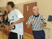 FBOA member Freddy Krieger officiates at camp.